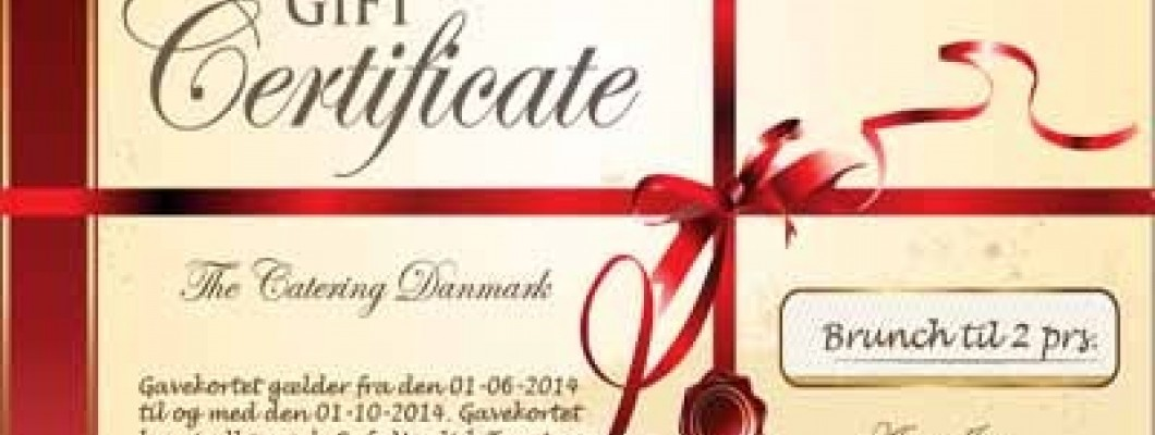 Catering Deals Gift Certificates